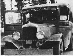 Bus with door open in 1920