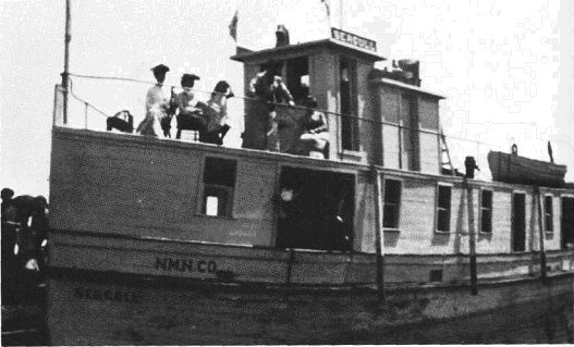 People on deck of Seagull Steamboat