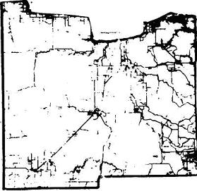 Old image of map of Koochiching County
